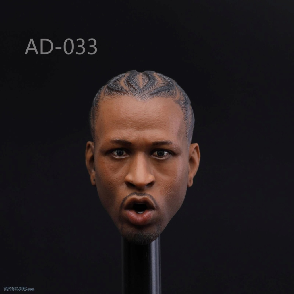 basketball - NEW PRODUCT: Advance Toys: 1/6 Iverson Headsculpt Open Mouth (AD-033A) & Normal Iverson Headsculpt (AD-033B) 417