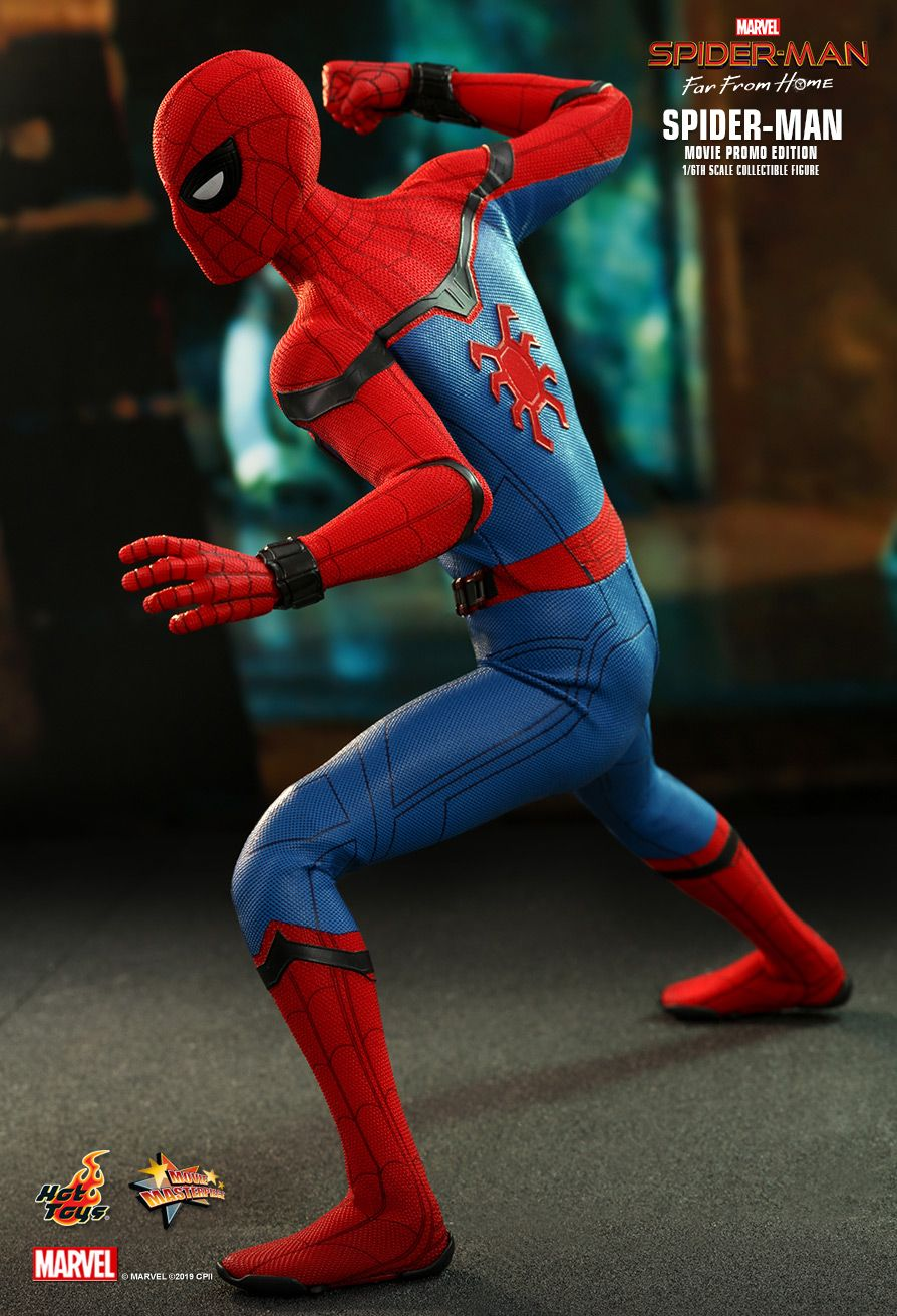 marvel - NEW PRODUCT: HOT TOYS: SPIDER-MAN: FAR FROM HOME SPIDER-MAN (MOVIE PROMO EDITION) 1/6TH SCALE COLLECTIBLE FIGURE 4217
