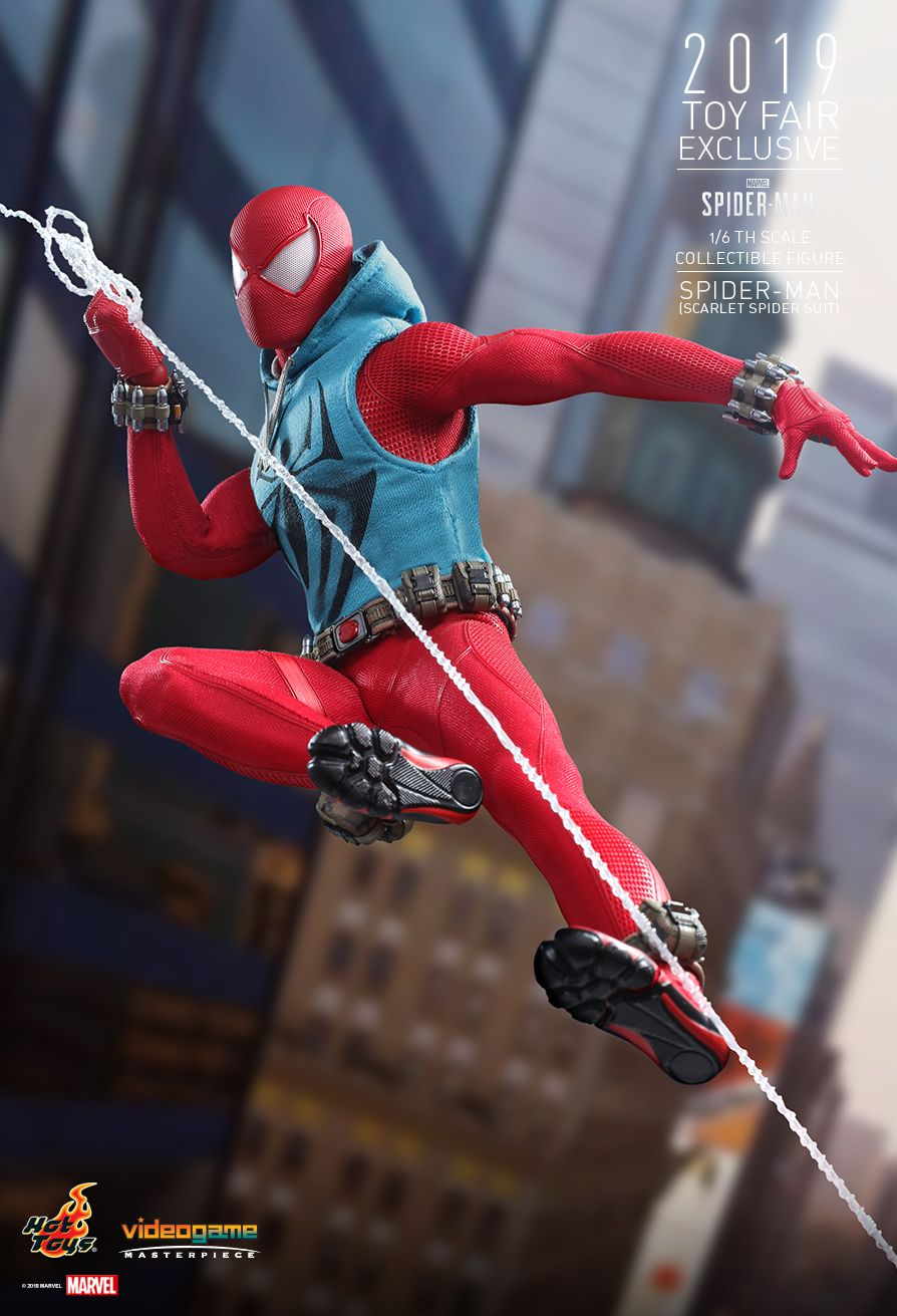 marvel - NEW PRODUCT: HOT TOYS: MARVEL'S SPIDER-MAN SPIDER-MAN (SCARLET SPIDER SUIT) 1/6TH SCALE COLLECTIBLE FIGURE 4220