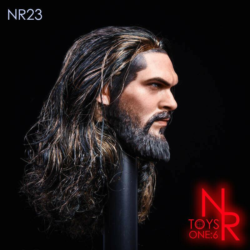 NEW PRODUCT: NRTOYS: NR23 1/6 scale Sea Prince Jason Momoa Head Sculpt HW/O Neck 4240