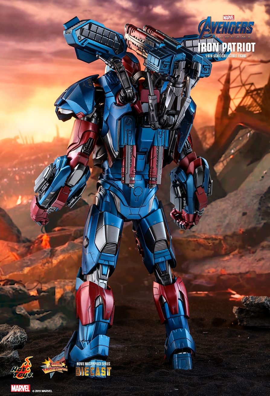 Endgame - NEW PRODUCT: HOT TOYS: AVENGERS: ENDGAME IRON PATRIOT 1/6TH SCALE COLLECTIBLE FIGURE 4252