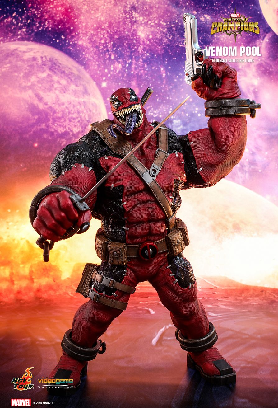 NEW PRODUCT: HOT TOYS: MARVEL CONTEST OF CHAMPIONS VENOMPOOL 1/6TH SCALE COLLECTIBLE FIGURE 4253