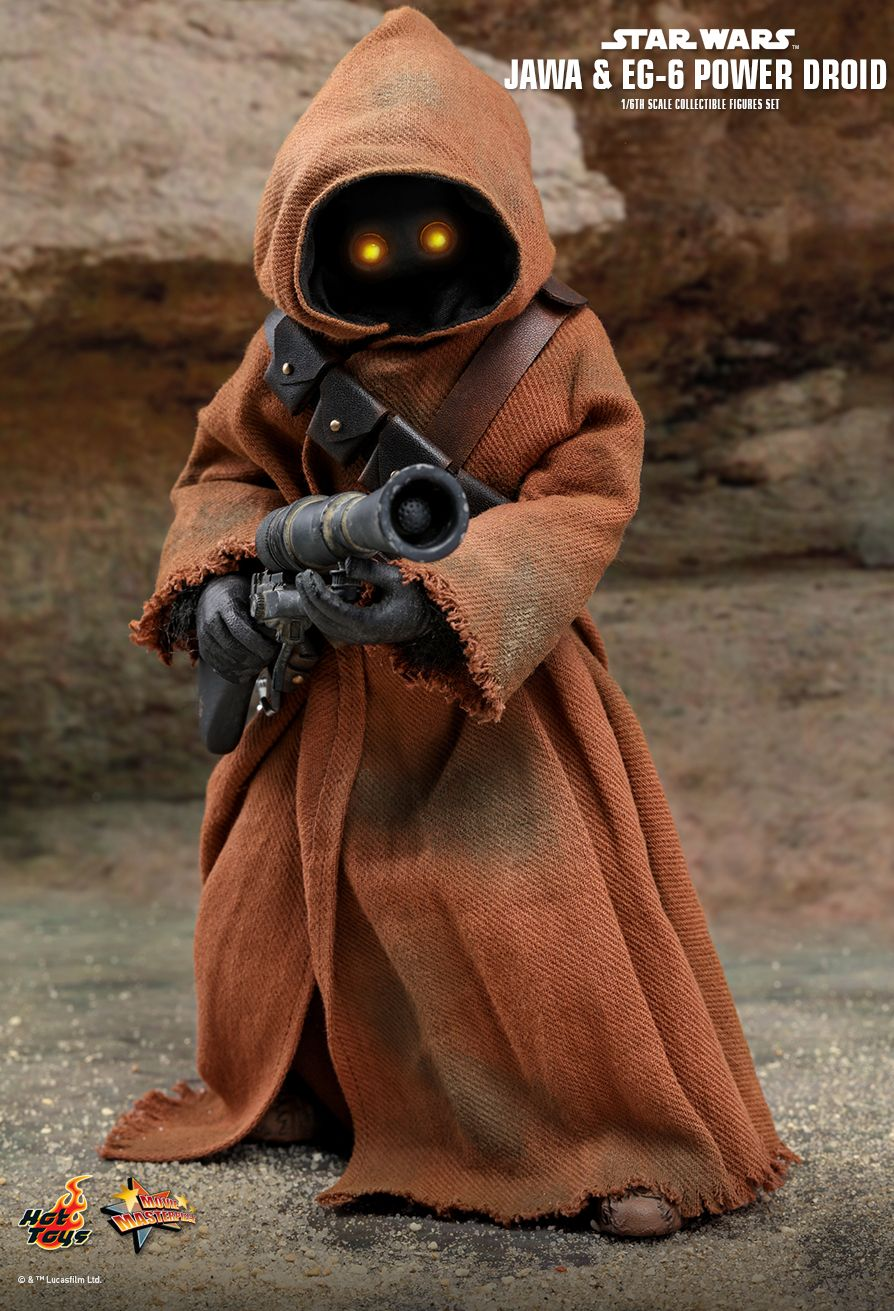 NEW PRODUCT: HOT TOYS: STAR WARS: EPISODE IV A NEW HOPE JAWA & EG-6 POWER DROID 1/6TH SCALE COLLECTIBLE SET 4271