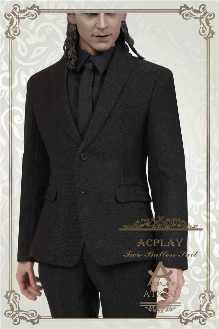 NEW PRODUCT: ACPLAY ATX033 1/6 Scale Men's Black Business Suit Set 433