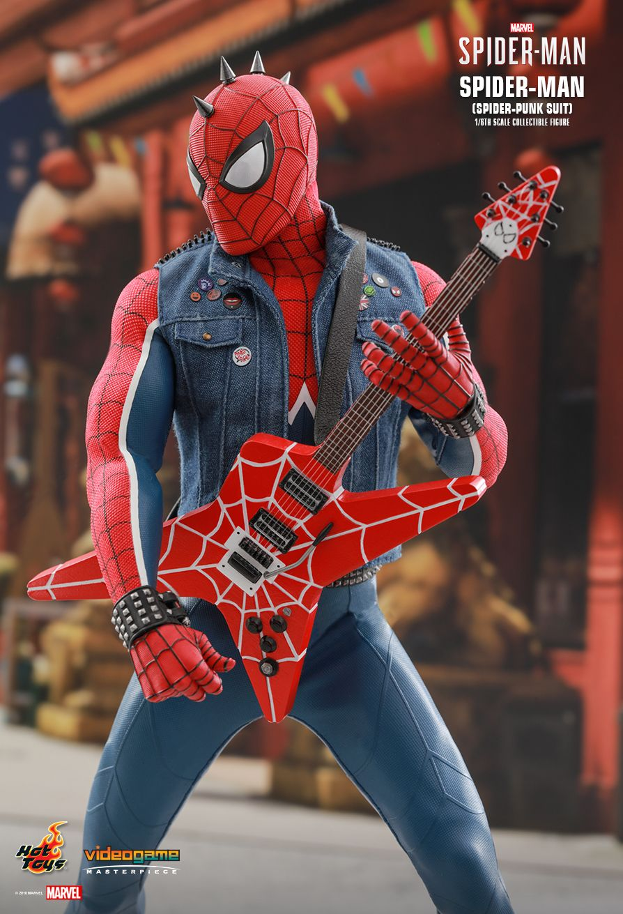 Spider-Punk - NEW PRODUCT: Hot Toys: MARVEL'S SPIDER-MAN SPIDER-MAN (SPIDER-PUNK SUIT) 1/6TH SCALE COLLECTIBLE FIGURE 437
