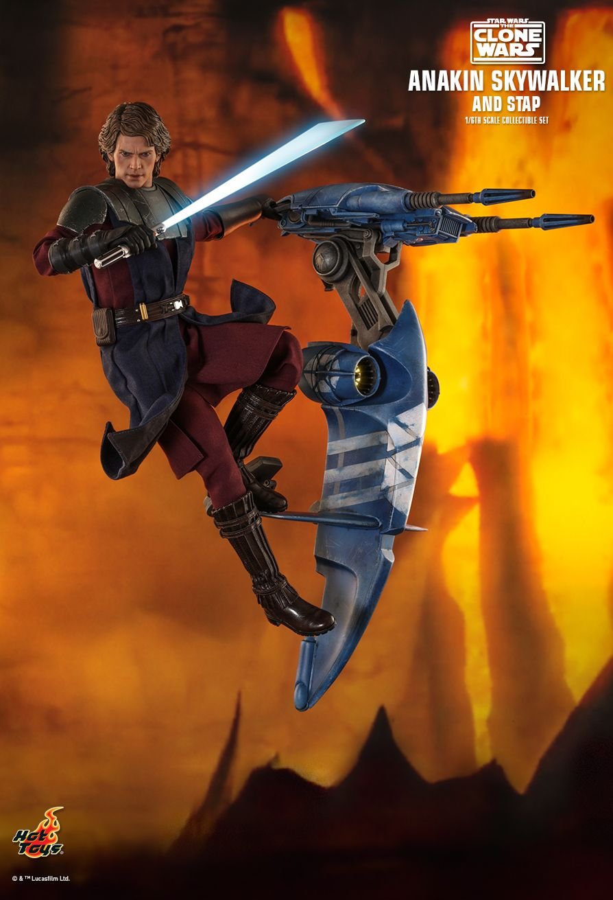 Sci-Fi - NEW PRODUCT: HOT TOYS: STAR WARS: THE CLONE WARS ANAKIN SKYWALKER AND STAP 1/6TH SCALE COLLECTIBLE SET 4375
