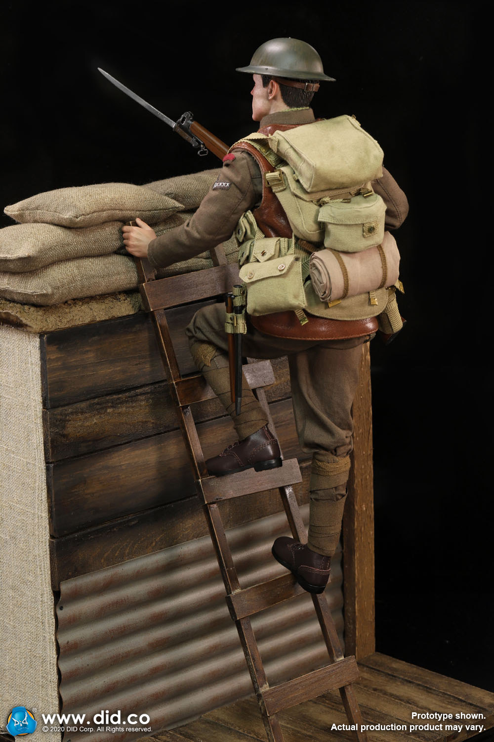 military - NEW PRODUCT: DiD: B11011 WWI British Infantry Lance Corporal William & Trench Diorama Set (UPDATED INFORMATION) 4398