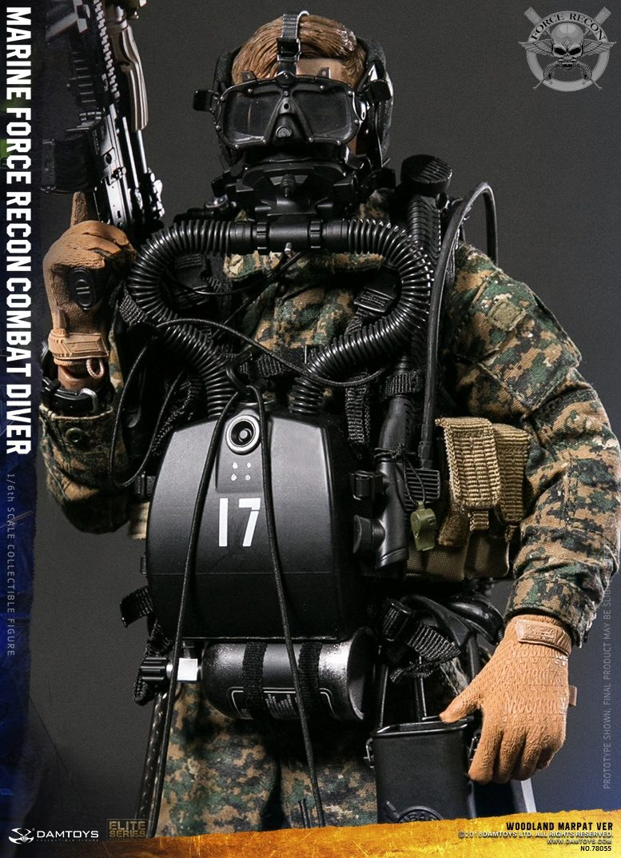 DamToys - NEW PRODUCT: DAM Toys: Marine Force Recon Combat Diver (Desert MARPAT) (GIDAM-78056) & (Woodland MARPAT) (GIDAM-78055) 451