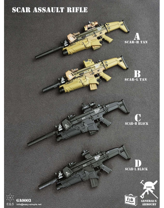 NEW PRODUCT: General's Armoury GA003 1/6 Scale SCAR Assault Rifle in 4 styles 45184310