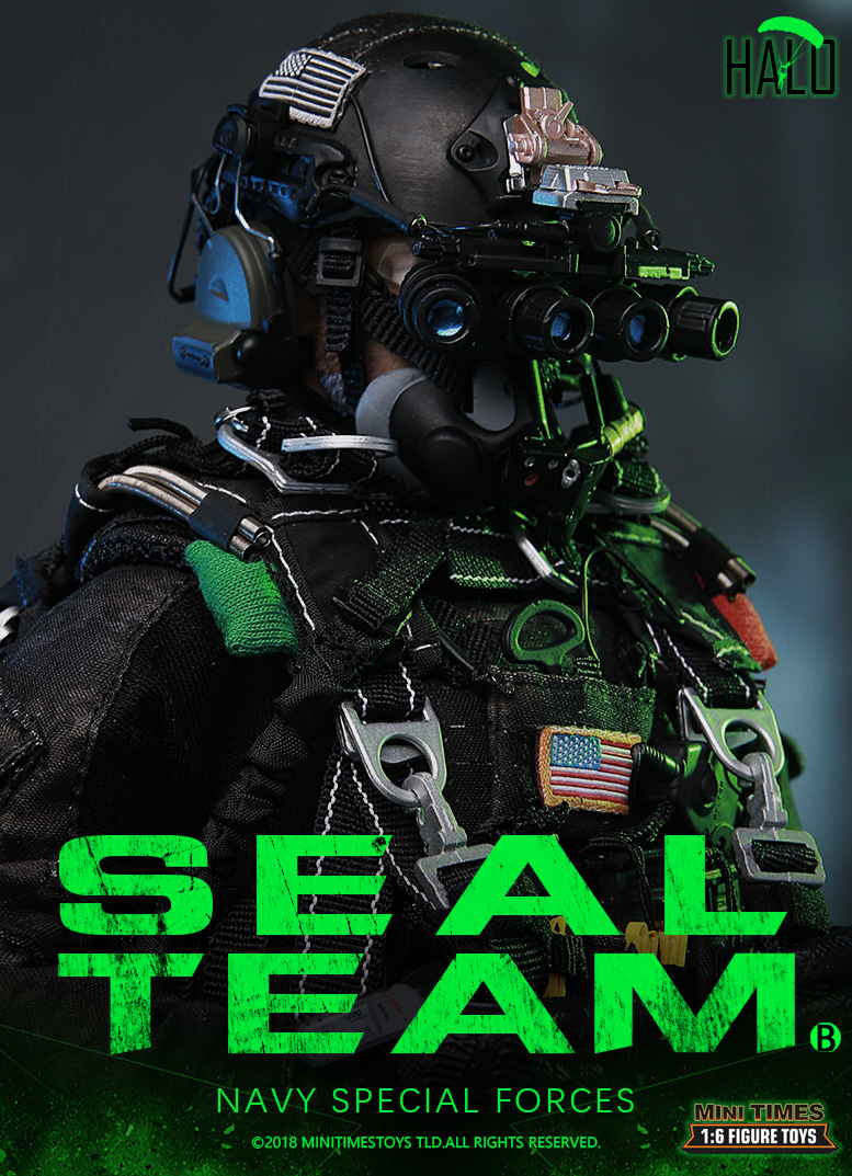 "Dog - NEW PRODUCT: MINI TIMES TOYS US NAVY SEAL TEAM SPECIAL FORCES ""HALO"" 1/6 SCALE ACTION FIGURE MT-M013 491"