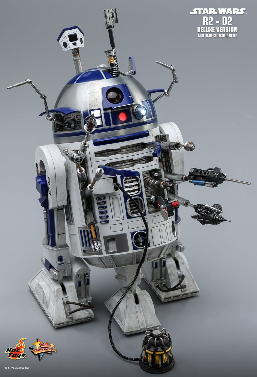 NEW PRODUCT: HOT TOYS: STAR WARS R2-D2 DELUXE VERSION 1/6TH SCALE COLLECTIBLE FIGURE 493