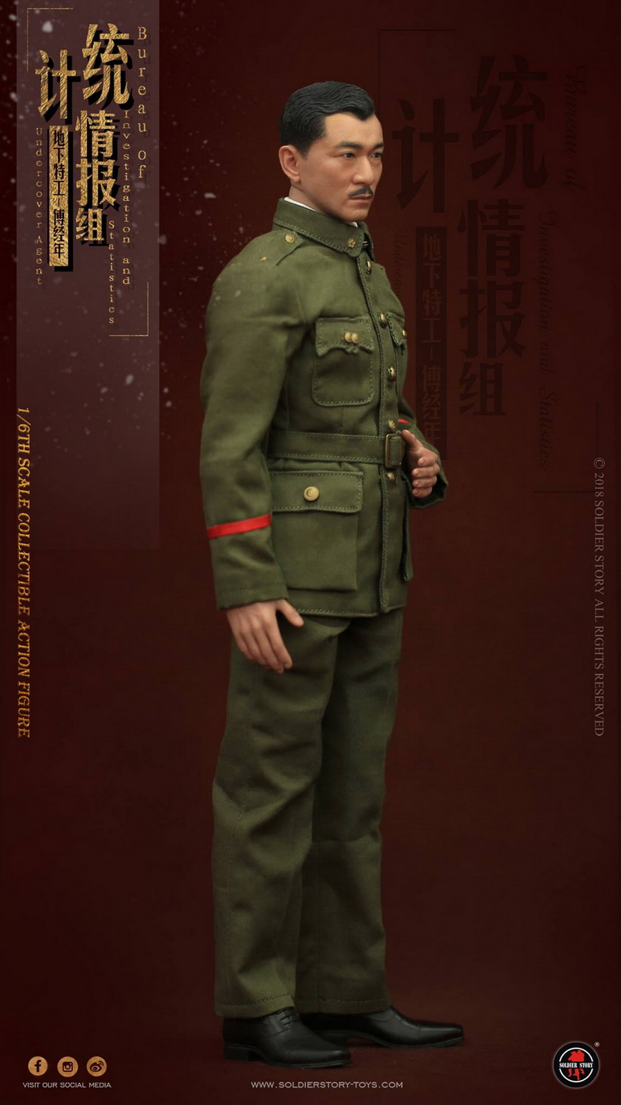 SoldierStory - NEW PRODUCT: SoldierStory new product: 1/6 World War II statistical intelligence group underground agent Fu Jingian - Shanghai 1942 (SS113#) 494
