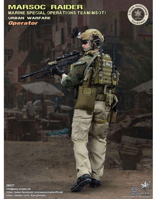 NEW PRODUCT: Easy & Simple 26027 1/6 Scale MARSOC Raider Urban Warfare Operator 5-528x10