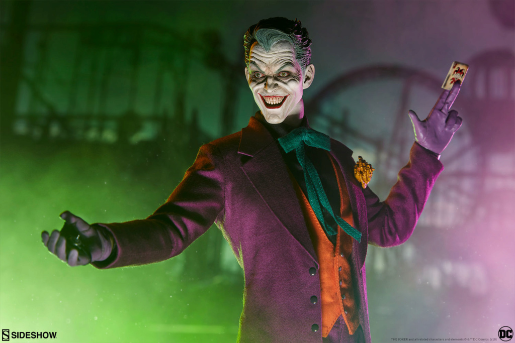batman - NEW PRODUCT: SIDESHOW COLLECTIBLES: The Joker Sixth Scale Figure (Exclusive Laughing Head Sculpt) 5112