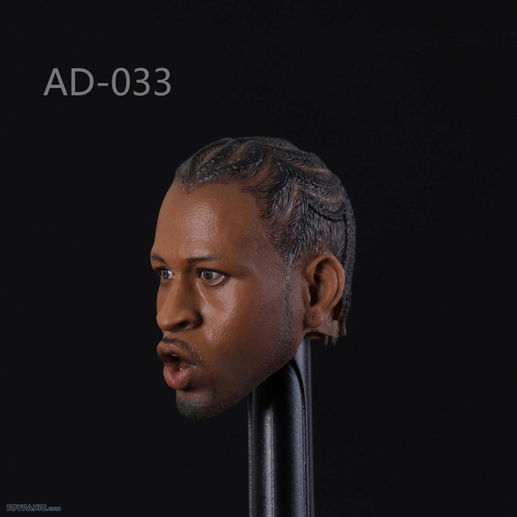 basketball - NEW PRODUCT: Advance Toys: 1/6 Iverson Headsculpt Open Mouth (AD-033A) & Normal Iverson Headsculpt (AD-033B) 518