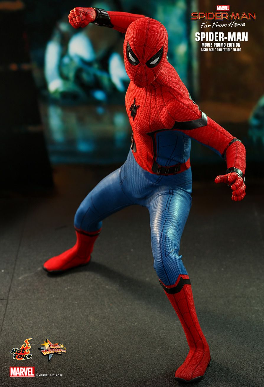 marvel - NEW PRODUCT: HOT TOYS: SPIDER-MAN: FAR FROM HOME SPIDER-MAN (MOVIE PROMO EDITION) 1/6TH SCALE COLLECTIBLE FIGURE 5208