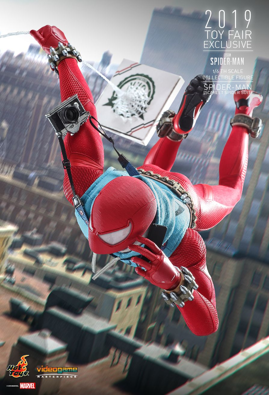 marvel - NEW PRODUCT: HOT TOYS: MARVEL'S SPIDER-MAN SPIDER-MAN (SCARLET SPIDER SUIT) 1/6TH SCALE COLLECTIBLE FIGURE 5213