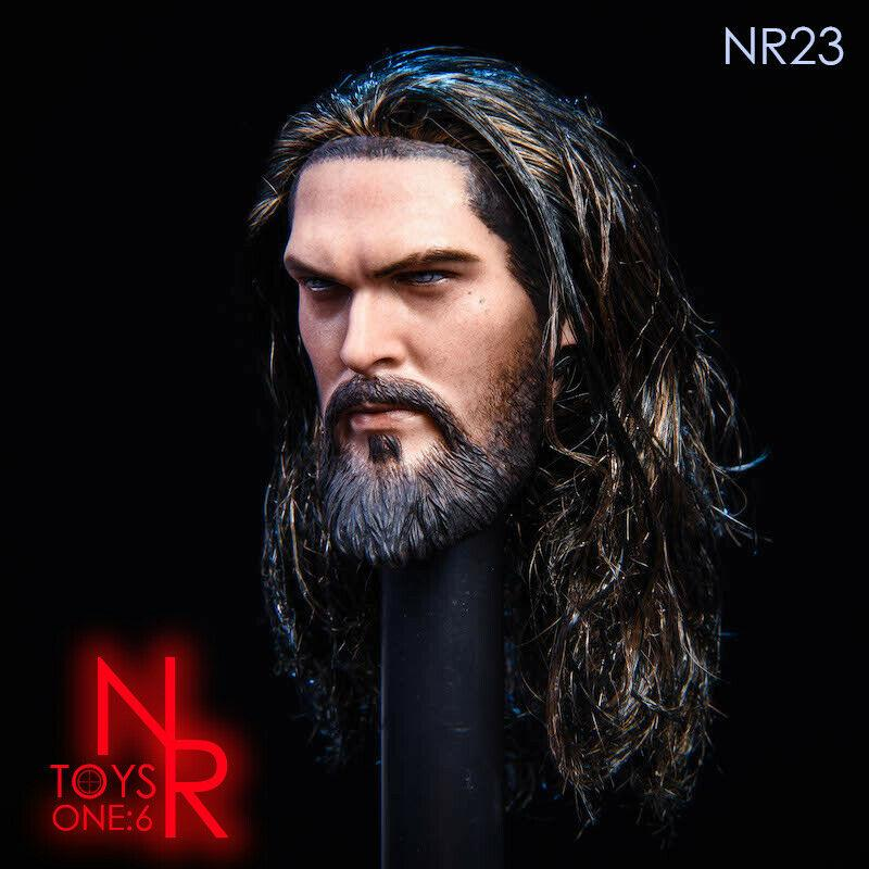 NEW PRODUCT: NRTOYS: NR23 1/6 scale Sea Prince Jason Momoa Head Sculpt HW/O Neck 5231