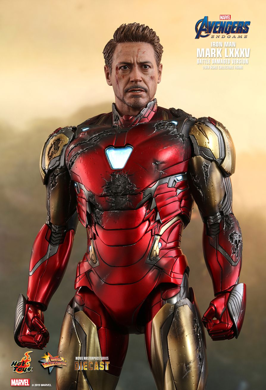 marvel - NEW PRODUCT: HOT TOYS: AVENGERS: ENDGAME IRON MAN MARK LXXXV (BATTLE DAMAGED VERSION) 1/6TH SCALE COLLECTIBLE FIGURE 5241
