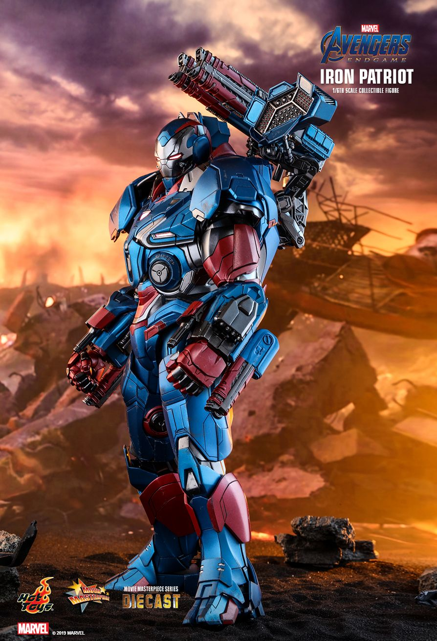 Endgame - NEW PRODUCT: HOT TOYS: AVENGERS: ENDGAME IRON PATRIOT 1/6TH SCALE COLLECTIBLE FIGURE 5243