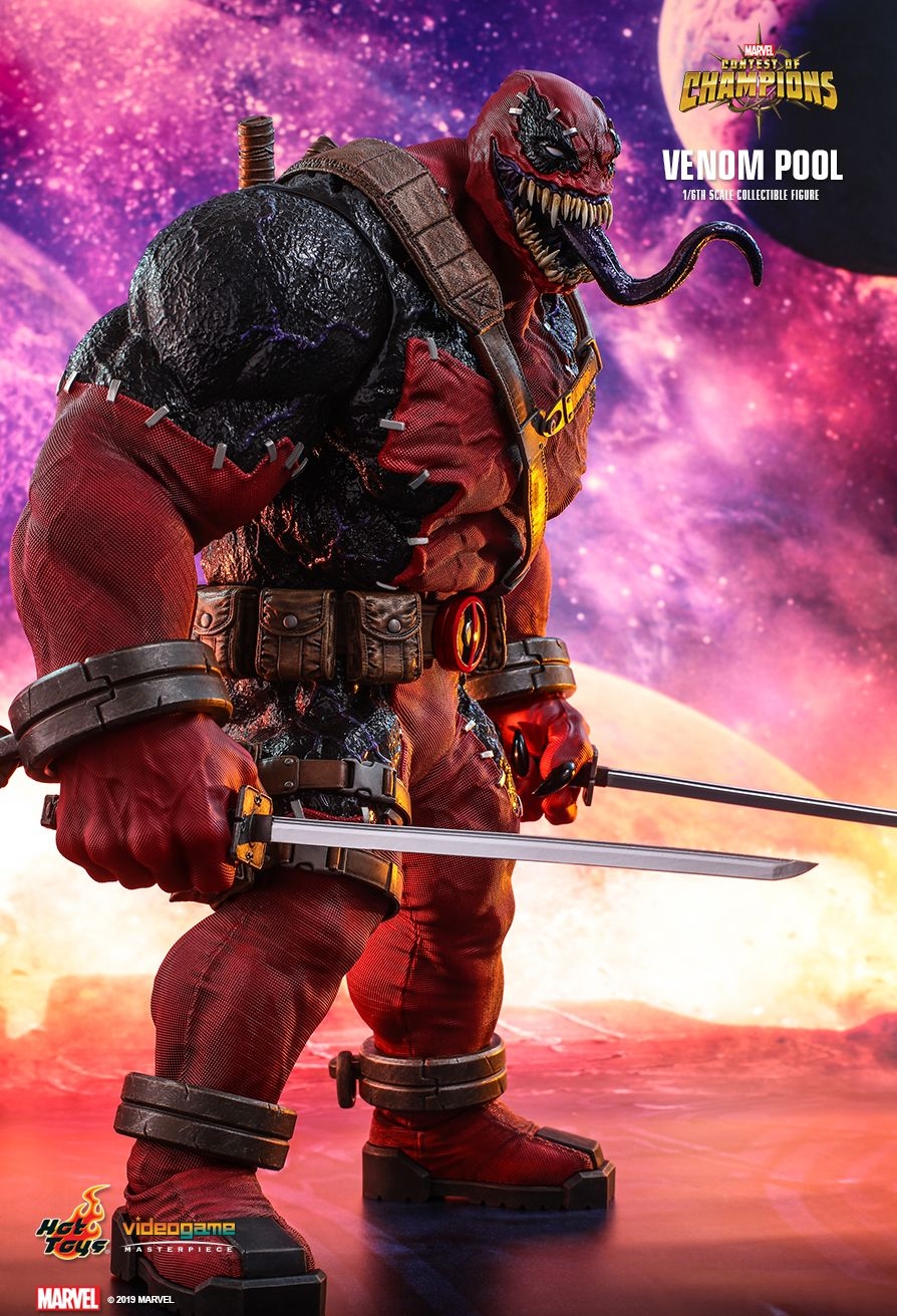 NEW PRODUCT: HOT TOYS: MARVEL CONTEST OF CHAMPIONS VENOMPOOL 1/6TH SCALE COLLECTIBLE FIGURE 5244
