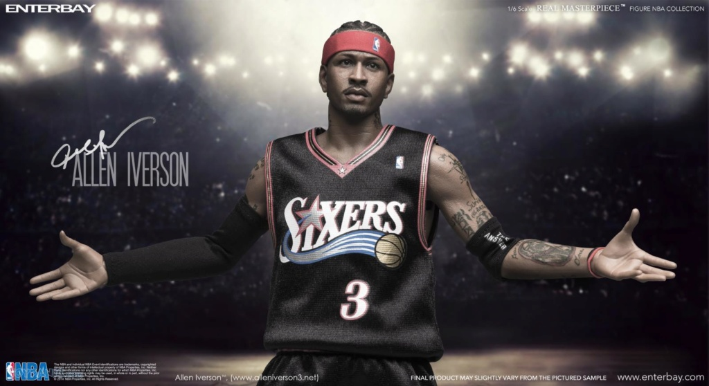 athlete - NEW PRODUCT: Enterbay: 1/6 Real Masterpiece NBA - Allen Iverson Action Figure (New Upgraded Re-edition) 52520222