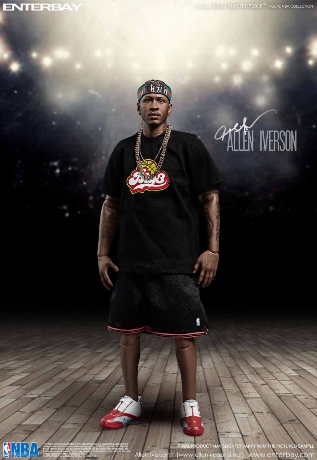 athlete - NEW PRODUCT: Enterbay: 1/6 Real Masterpiece NBA - Allen Iverson Action Figure (New Upgraded Re-edition) 52520223