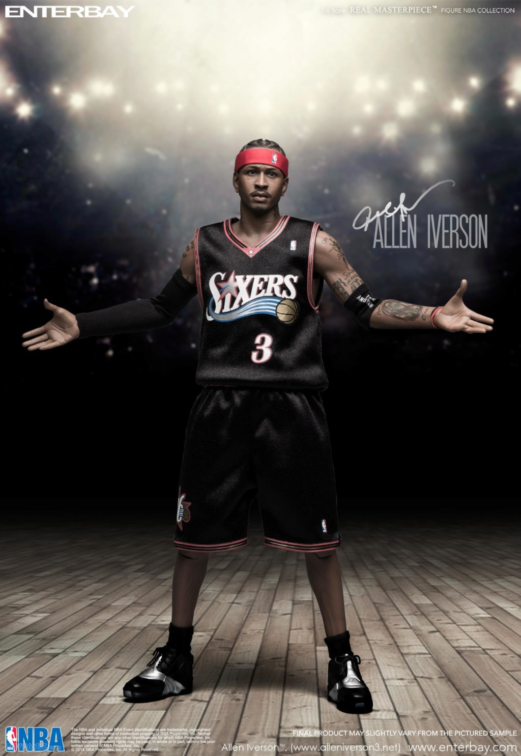 athlete - NEW PRODUCT: Enterbay: 1/6 Real Masterpiece NBA - Allen Iverson Action Figure (New Upgraded Re-edition) 52520224