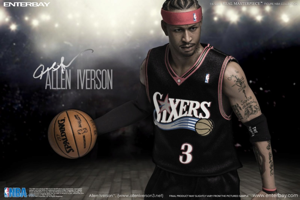 athlete - NEW PRODUCT: Enterbay: 1/6 Real Masterpiece NBA - Allen Iverson Action Figure (New Upgraded Re-edition) 52520225