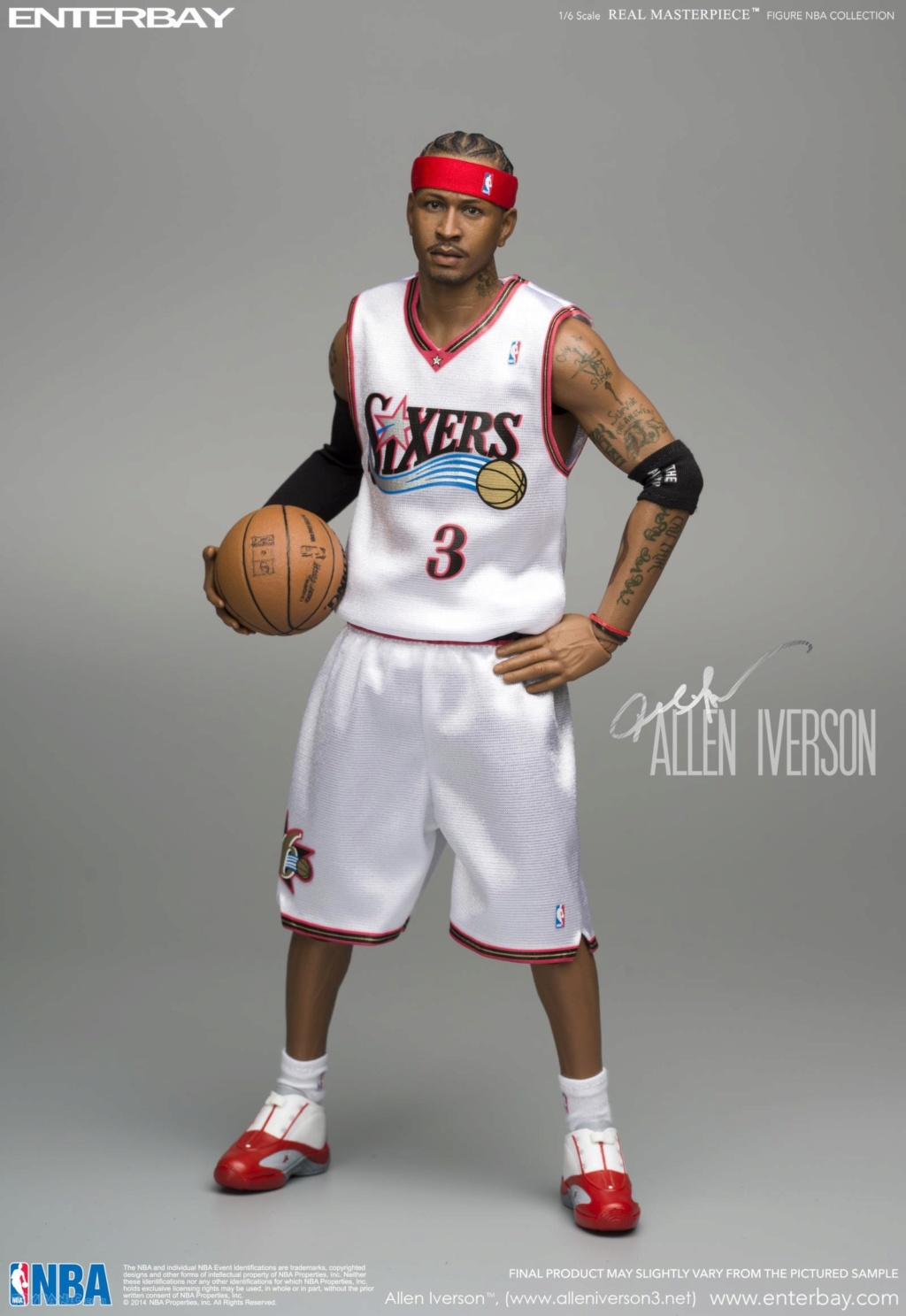 athlete - NEW PRODUCT: Enterbay: 1/6 Real Masterpiece NBA - Allen Iverson Action Figure (New Upgraded Re-edition) 52520226