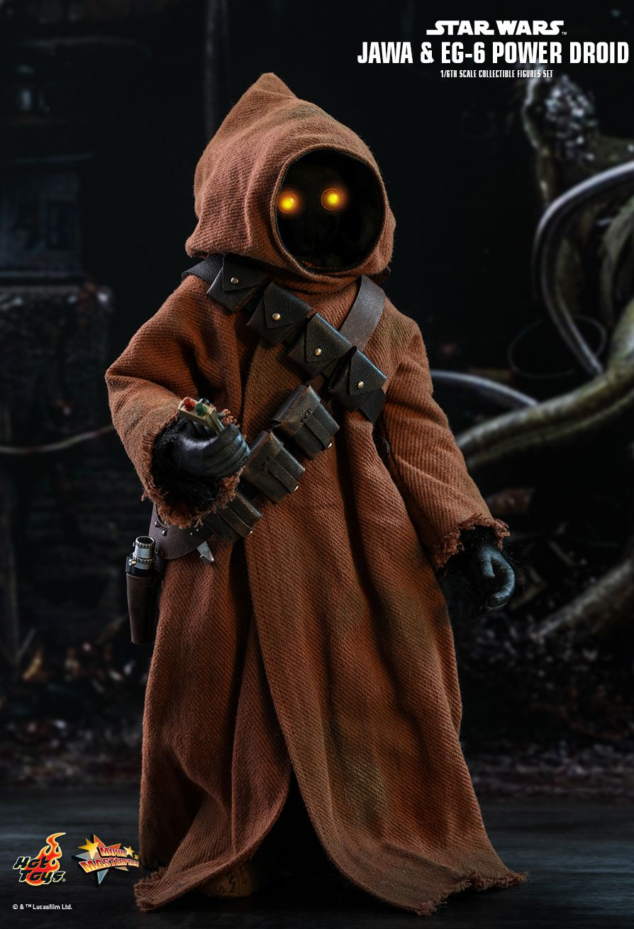 NEW PRODUCT: HOT TOYS: STAR WARS: EPISODE IV A NEW HOPE JAWA & EG-6 POWER DROID 1/6TH SCALE COLLECTIBLE SET 5262