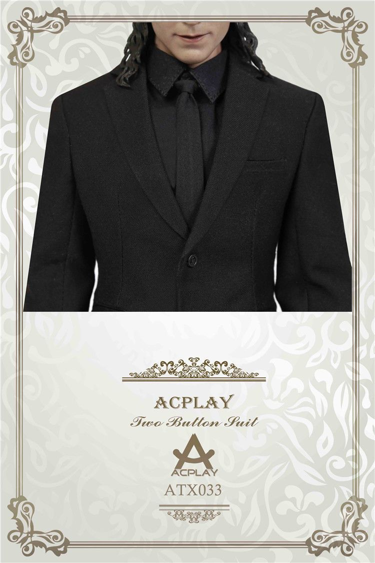 NEW PRODUCT: ACPLAY ATX033 1/6 Scale Men's Black Business Suit Set 534