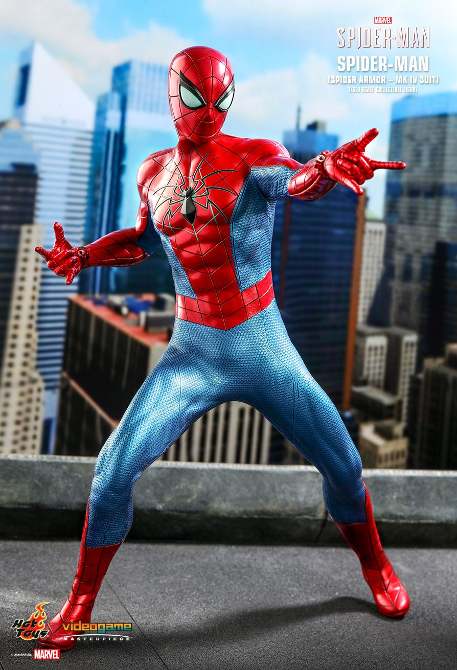 videogame - NEW PRODUCT: HOT TOYS: SPIDER-MAN (SPIDER ARMOR - MK IV SUIT) MARVEL'S SPIDER-MAN 1/6TH SCALE COLLECTIBLE FIGURE 5350