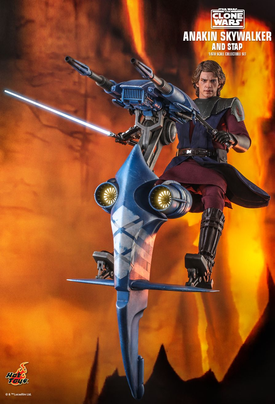 Sci-Fi - NEW PRODUCT: HOT TOYS: STAR WARS: THE CLONE WARS ANAKIN SKYWALKER AND STAP 1/6TH SCALE COLLECTIBLE SET 5359