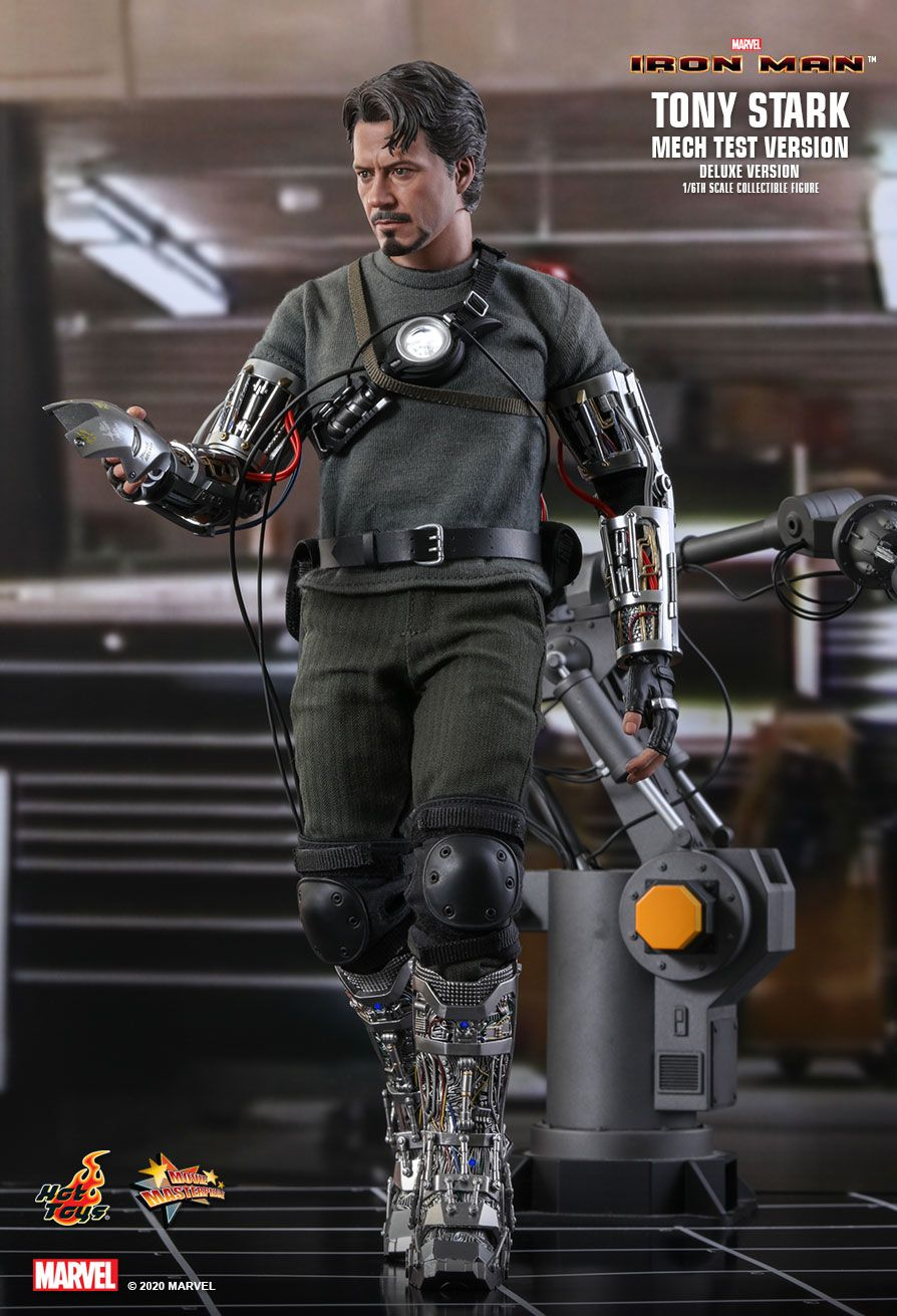 movie - NEW PRODUCT: HOT TOYS: IRON MAN TONY STARK (MECH TEST VERSION) (DELUXE VERSION) 1/6TH SCALE COLLECTIBLE FIGURE 5362
