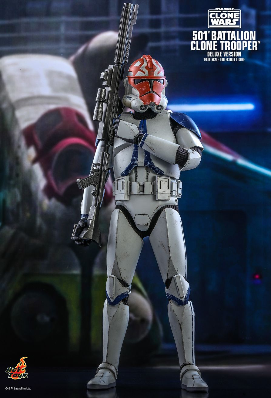 hottoys - NEW PRODUCT: HOT TOYS: STAR WARS: THE CLONE WARS™ 501ST BATTALION CLONE TROOPER™ (DELUXE VERSION) 1/6TH SCALE COLLECTIBLE FIGURE 5375