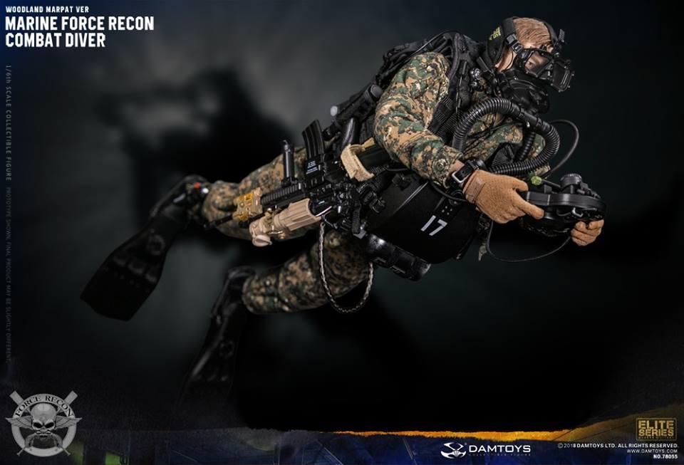 DamToys - NEW PRODUCT: DAM Toys: Marine Force Recon Combat Diver (Desert MARPAT) (GIDAM-78056) & (Woodland MARPAT) (GIDAM-78055) 552