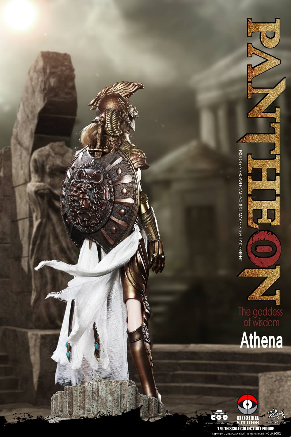 "NEW PRODUCT: COO MODEL X HOMER 1/6th scale PANTHEON Athena Goddess of War 12"" Collectible Figure 568"