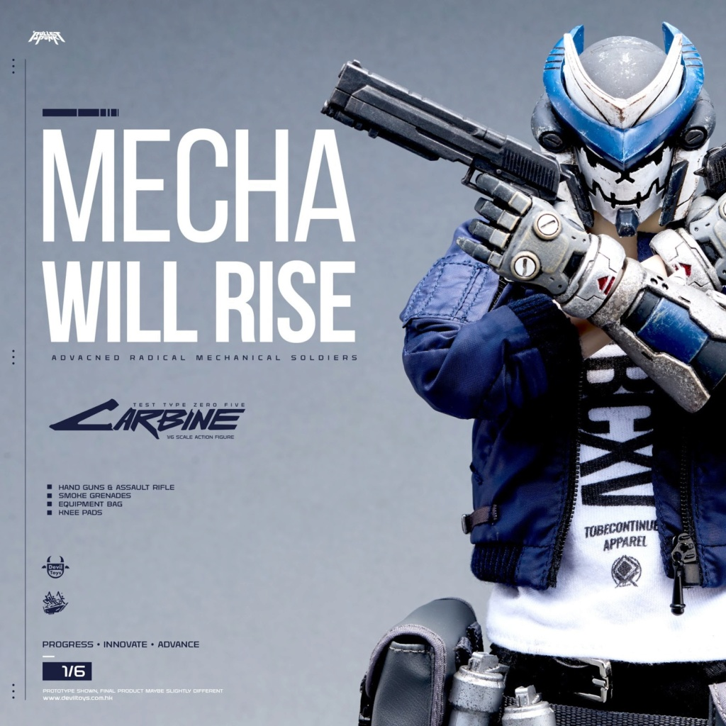 DXIII - NEW PRODUCT: Mecha Will Rise! Devil Toys presents 1/6th scale Carbine and DXIII 12-inch figures 580