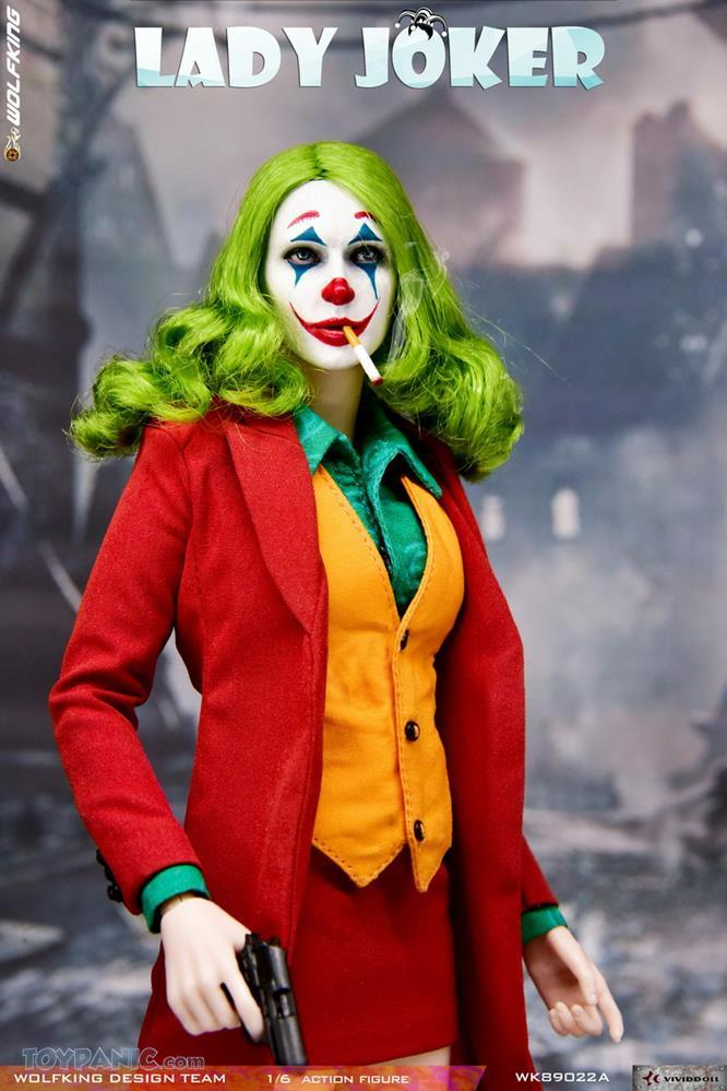 WolfKing - NEW PRODUCT: Wolfking: 1/6 scale Female Joker figure (Standard and Deluxe Editions) 5ef0b710