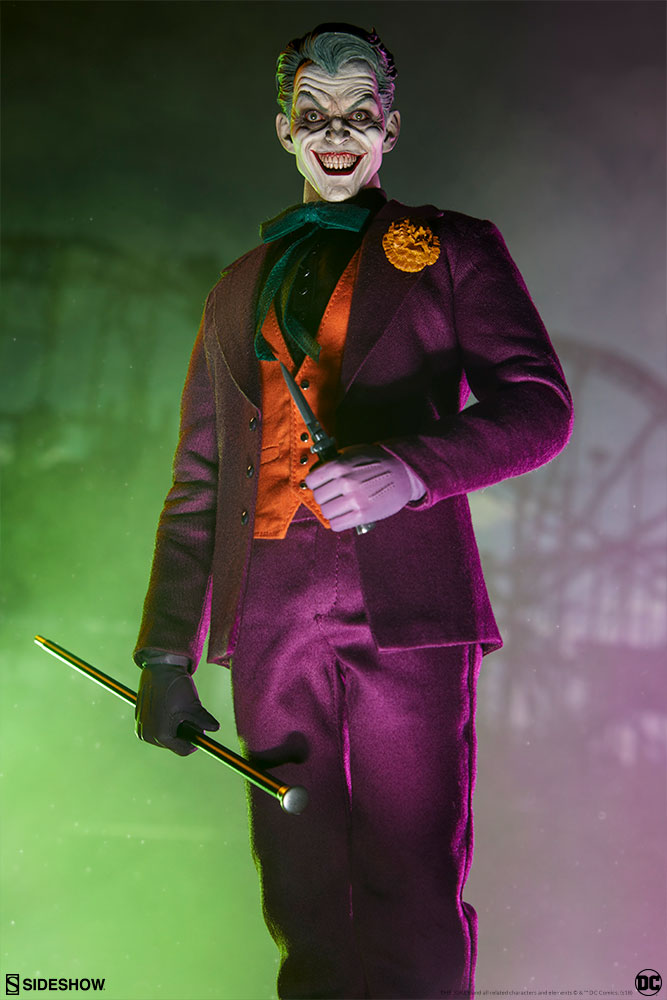 batman - NEW PRODUCT: SIDESHOW COLLECTIBLES: The Joker Sixth Scale Figure (Exclusive Laughing Head Sculpt) 6109