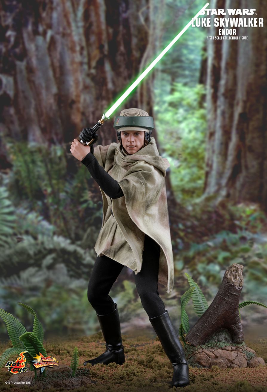 returnofthejedi - NEW PRODUCT: HOT TOYS: STAR WARS: RETURN OF THE JEDI LUKE SKYWALKER (ENDOR) 1/6TH SCALE COLLECTIBLE FIGURE 6112