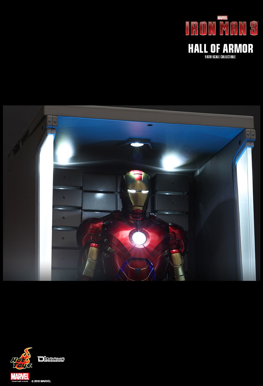 diorama - NEW PRODUCT: HOT TOYS: IRON MAN 2 HALL OF ARMOR 1/6TH SCALE COLLECTIBLE 6115