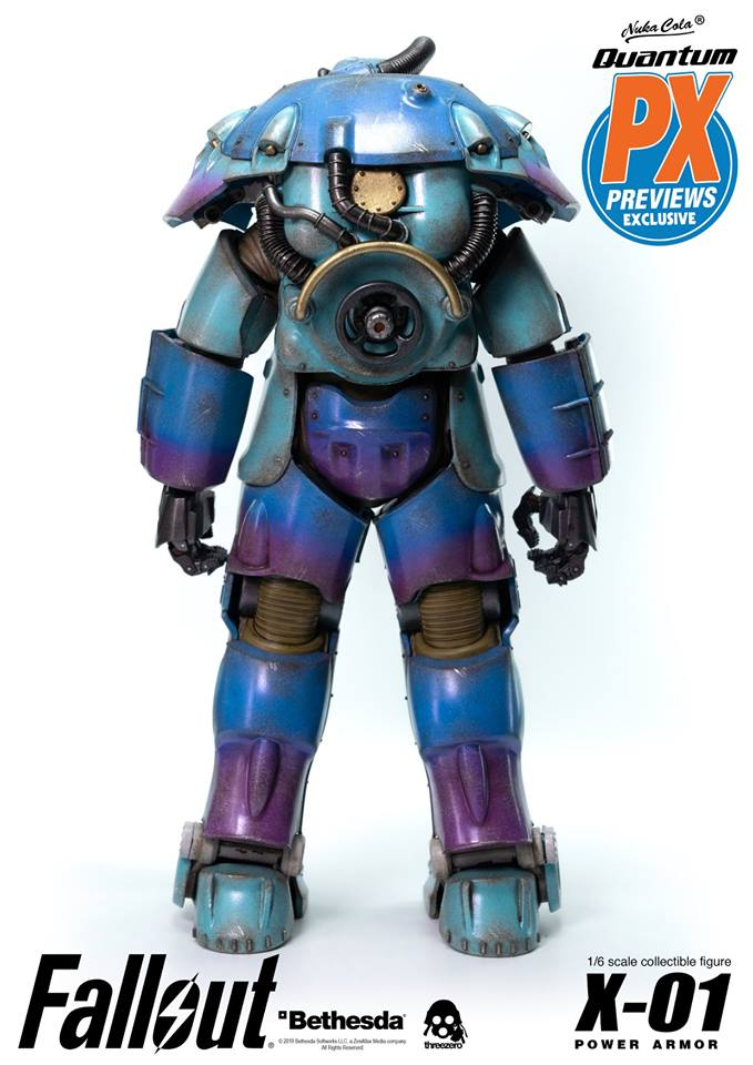 "Fallout - NEW PRODUCT: Three Zero Exclusive 1/6th scale X-01 ""Quantum"" Power Armor 14.5-inch Figure Set 6122"