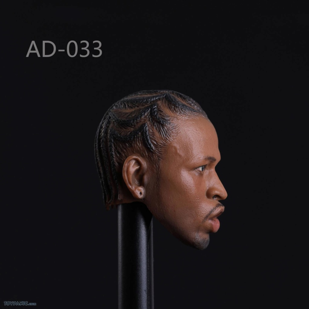 basketball - NEW PRODUCT: Advance Toys: 1/6 Iverson Headsculpt Open Mouth (AD-033A) & Normal Iverson Headsculpt (AD-033B) 618