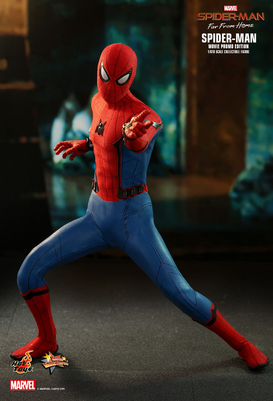 marvel - NEW PRODUCT: HOT TOYS: SPIDER-MAN: FAR FROM HOME SPIDER-MAN (MOVIE PROMO EDITION) 1/6TH SCALE COLLECTIBLE FIGURE 6202