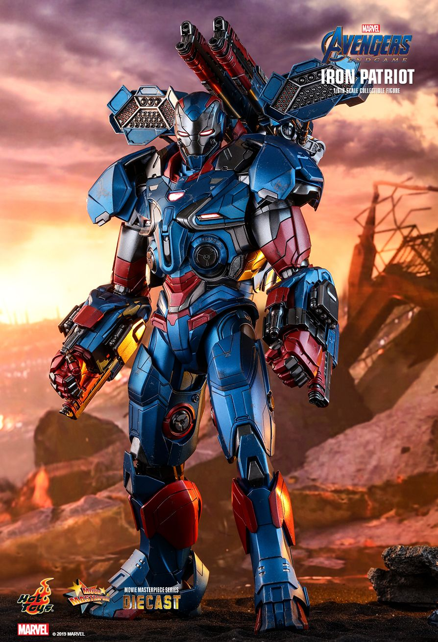 Endgame - NEW PRODUCT: HOT TOYS: AVENGERS: ENDGAME IRON PATRIOT 1/6TH SCALE COLLECTIBLE FIGURE 6233