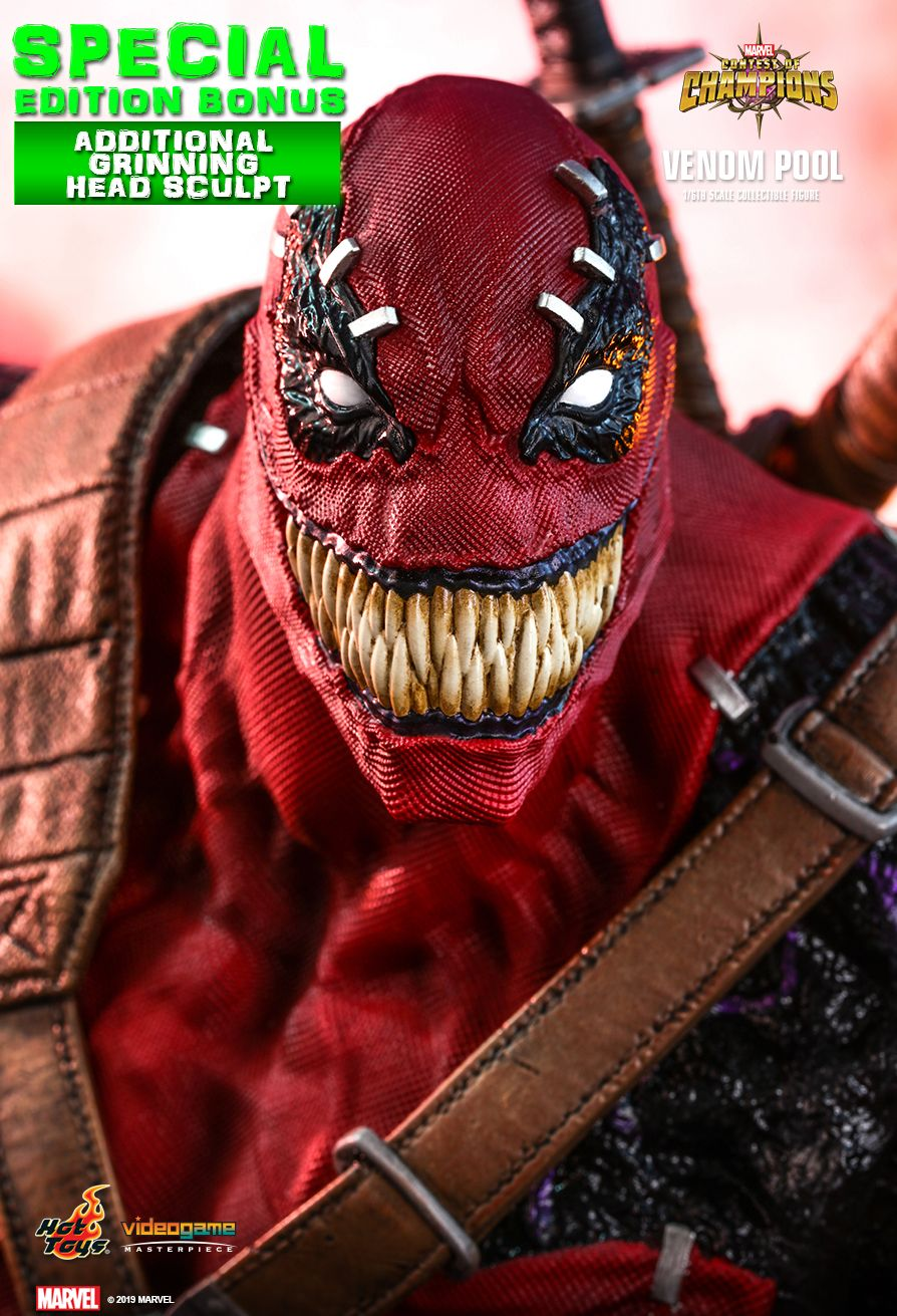 NEW PRODUCT: HOT TOYS: MARVEL CONTEST OF CHAMPIONS VENOMPOOL 1/6TH SCALE COLLECTIBLE FIGURE 6234