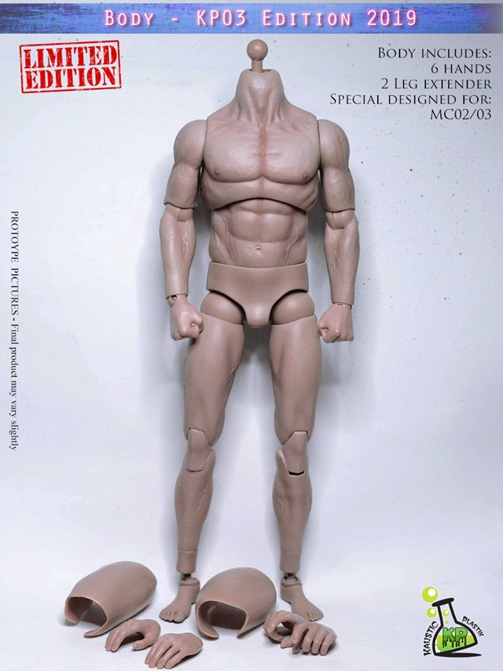 NEW PRODUCT: KAUSTIC PLASTIC ATHLETIK 1/6 SCALE MALE BODY (PALE SKIN TONE) KP03 EDITION 2019 62499610