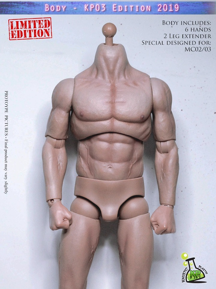 NEW PRODUCT: KAUSTIC PLASTIC ATHLETIK 1/6 SCALE MALE BODY (PALE SKIN TONE) KP03 EDITION 2019 62987610